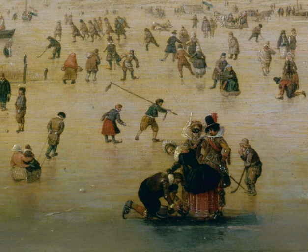 Dutch Art of the 17th century Skating Scene 1620sDetails Hendrick Avercamp (detail)