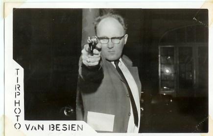 Dad shooting at a fair